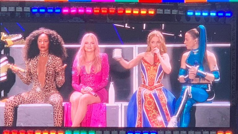 Spice Girls on stage at the 2019 tour in Ricoh Arena Coventry
