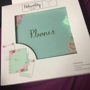 Green planner in box
