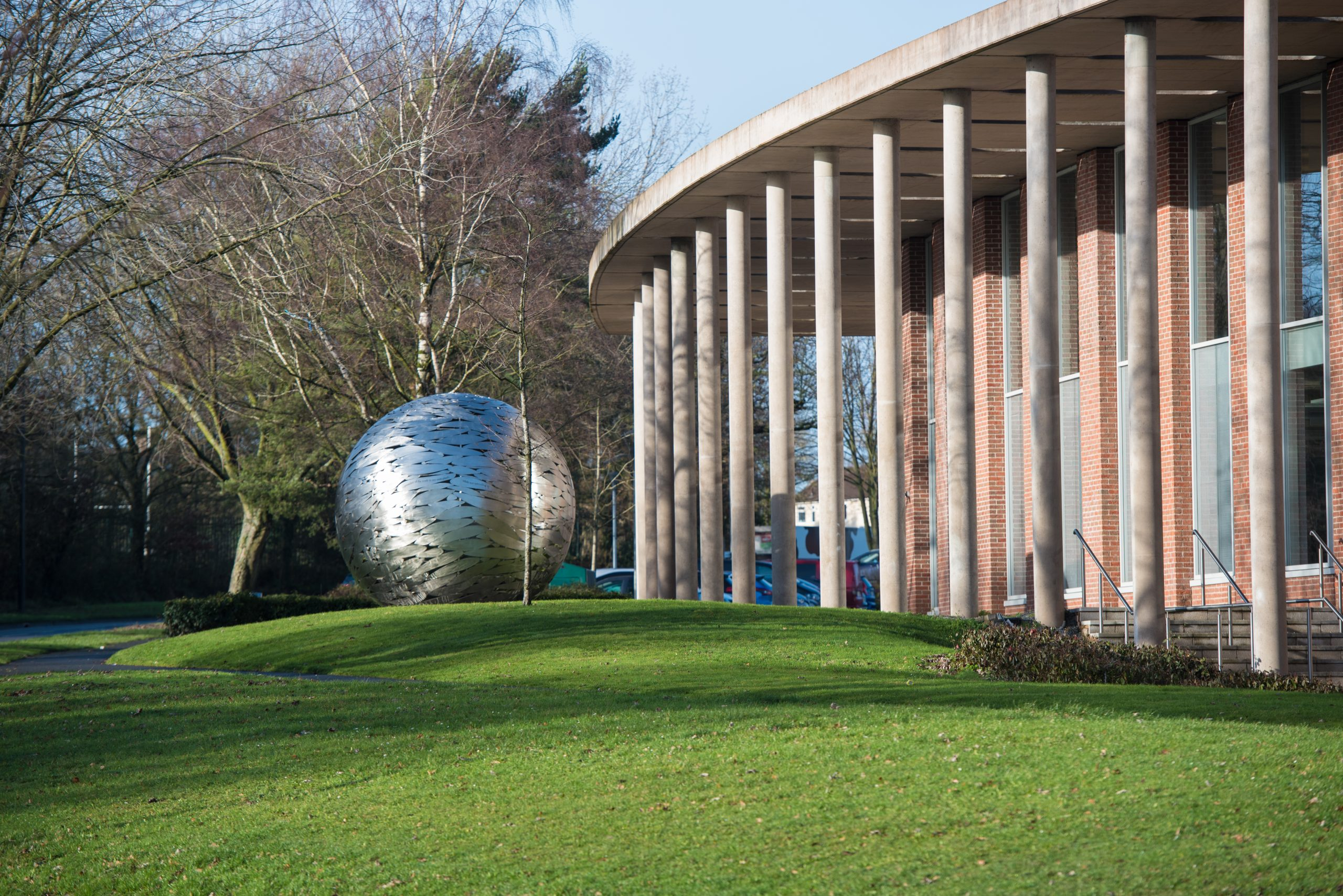 Front of campus including Globe