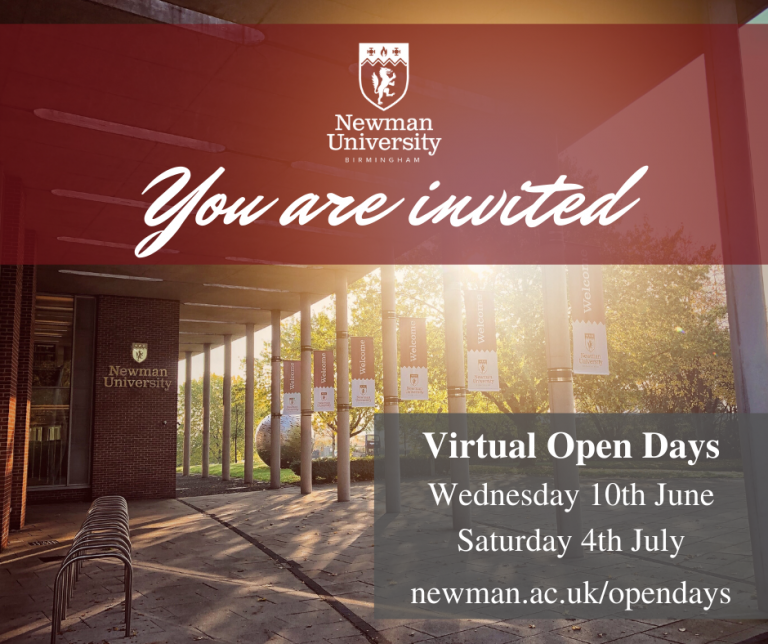 June and July 2020 Open Day invite poster